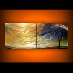 Original art at 10% off !  cloud sunset original seascape landscape painting by mattsart, $337.50