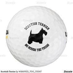 Scottish Terrier Pack Of Golf Balls