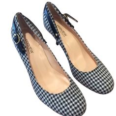 Preview international houndstooth Mary Jane heels Preview international houndstooth Mary Jane heels EUC Shoes Heels