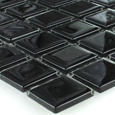€3.70 per vel. Glasmozaïek Tegels Zwart 25x25x4mm