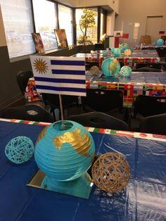 Globe Centerpieces Missions Fundraiser Centerpiece