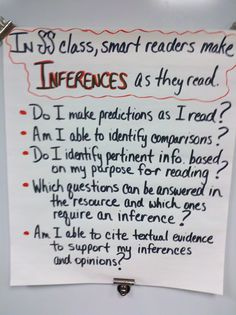 """Inferring"" Anchor Chart (Social Studies)"