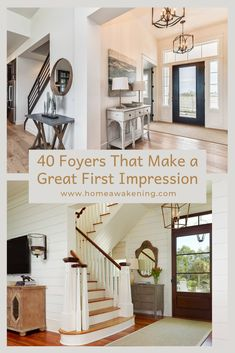40 Foyers That Make a Great First Impression - Home Awakening Grand Entryway, Entryway Decor, Interior Architecture, Interior And Exterior, Interior Design, Foyer Design, Home Decor Inspiration, Decor Ideas, Foyer Decorating