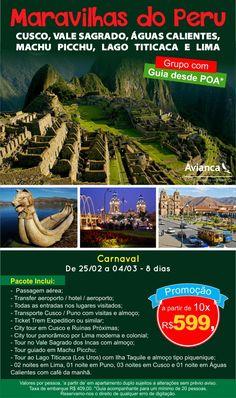 Pensando em curtir o feriado de Carnaval fora do Brasil? A Clube Turismo tem uma dica de destino para você: Venha conhecer as maravilhas do Peru! De 25 de fevereiro à 04 de março, com saída de Porto Alegre, RS. Consulte mais informações: lalasponchiado.home@clubeturismo.com.br #AmoViajar #ClubePeloMundo #AproveiteSuasFerias #OndeEuQueriaEstarAgora #QueDestinoeEsse #VenhaConhecer