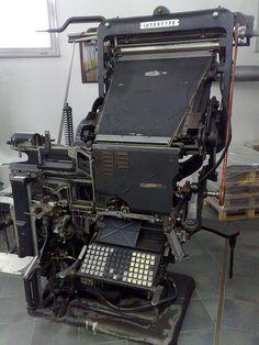 Una preciosa «Intertype», una dura competidora de la «Linotype» de Ottmar Mergenthaler