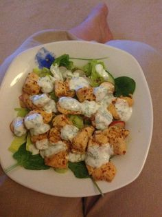 Piri Piri Chicken, yoghurt & mint dressing & salad Step 2