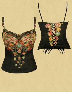 Michal Negrin corset - could never afford this but nice eye candy on website