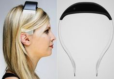Transparent Vibso headphones that transmit crystal clear audio