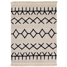 Bring a touch of rustic elegance to your home with this Bereber Canvas washable rug from Lorena Canals. Handmade from cotton, this rug features ethnic inspired patterns and shapes against a neutr Lorena Canals Rugs, Latex Allergy, Rug Size Guide, Washable Rugs, Rug Material, Pottery Barn Kids, Rustic Elegance, Floor Design, Canvas Fabric