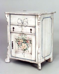 English Country cabinet/case-piece commode painted