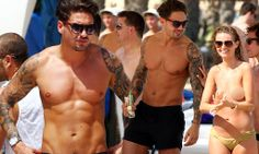 TOWIE's Mario Falcone puts his washboard abs on display in Ibiza
