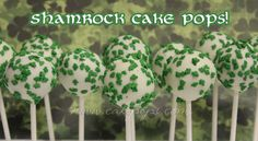 Celebrate St. Patty's Day with these end of the rainbow treats! Candy's St. Patrick's Day Cake Pops are hand dipped in white chocolate & studded with green shamrock sprinkles. Choose one of the follow