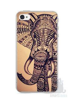 Capa Iphone 4/S Elefante Tribal - SmartCases - Acessórios para celulares e tablets :)