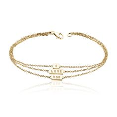 Personalized bar 3 layer bracelet Initial layer bar by MimicDesign, $40.00