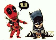 Deadpool is mean to Batman!  I've just added this print to my art store along with a few others. Click the link in my profile to see what's available.  Also, see my last post (rocket & groot) for a chance to win some free prints. Still a few days left to enter. (IG only)  PS: Happy Birthday to me!  Enter the code: BIRTHDAY to get 20% off prints for the next 24 hours!  www.jonsommariva.bigcartel.com  Thanks! Red J.