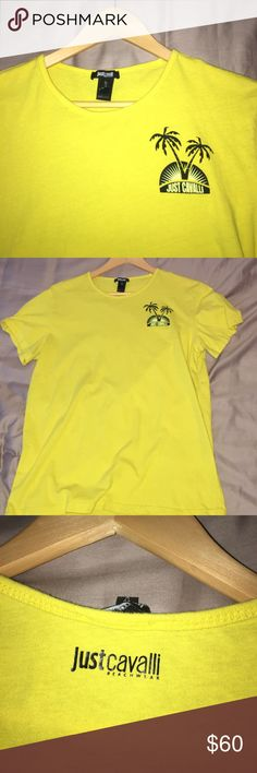Just Cavalli by Roberto Cavalli men's T-Shirt Yellow cotton t-shirt, by Just Cavalli. Worn less than 10 times, have original tags. US Large, fits like a medium. msrp $135 usd Just Cavalli Shirts Tees - Short Sleeve