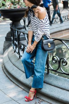 stripes and shoes