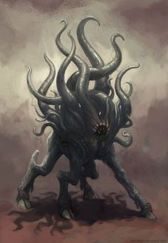 An interpretation of one of Shub-Niggurath's Dark Young, from H.P. Lovecraft's Cthulhu Mythos