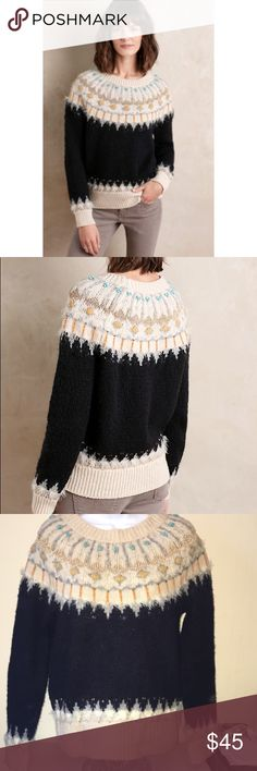 Anthropologie sleeping on snow sweater size m Anthropologie sleeping on snow brand sweater  Size M In excellent condition, From a household with cats. Anthropologie Sweaters