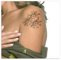 "Flower Temporary Tattoo Sunflower Ultra Thin Realistic Large Waterproof Fake Tattoos You will receive 1 flower tattoo and full instructions. Dimension: 3.5""W x 3.4""H The tattoos last 3-5 days. Waterproof, super easy to apply. Please read the full application instructions before applying the tattoo. You can remove the tattoo by rubbing the area with baby oil or use a sudsy washcloth. Any questions please feel free to message us. Thank you for stopping by, Unreal Ink Shop Hip Tattoos Women, Back Tattoo Women, Fake Tattoos, Inked Shop, Baby Oil, Tattoo You, Temporary Tattoo, Super Easy"