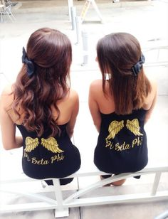 Pi Phi angel wing dresses. Made by 224 Apparel.