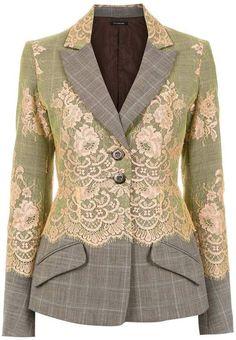 À La Garçonne wool blazer - Multicolour Source by bettyemwilliams Dress Couture Mode, Haute Couture Fashion, Blazer Fashion, Fashion Top, Refashion, Mantel, Ideias Fashion, Casual Outfits, Dress Outfits