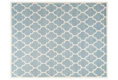One Kings Lane - Shades of Style - Taura Rug, Blue/Ivory. one kings lane $289