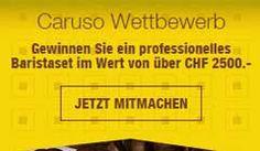 Gewinne ein professionelles Baristaset im Wert von über CHF 2'500.- , sowie hochwertige Vorratsdosen von Caruso Kaffee.