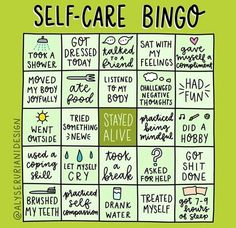 Let's play bingo y'all. I want all of us to win! Your move, ! 💚 selfcare selflove takecareofyourself Repost ・・・ Let's play Bingo! Self-care is important and you're worth it! Social Work, Social Media, You Re Worth It, Bingo Cards, Therapy Activities, Group Activities, Summer Activities, Understanding Yourself, Take Care Of Yourself