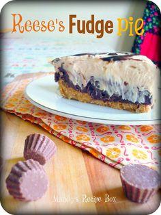 Mandy's Recipe Box: Reese's Fudge Pie
