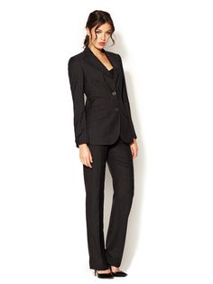 Pinstriped Wool Pant Suit by Dolce & Gabbana on Gilt.com