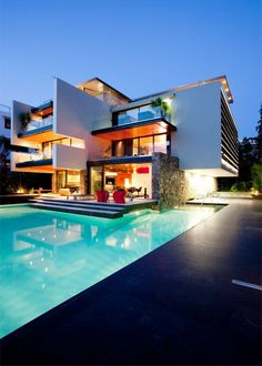 Modern Apartment #unique #rare #pool #lighting