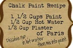 Twice Lovely: DIY Chalk Paint Dresser and Homemade Chalk Paint Recipe Chalk Paint Dresser, Chalk Paint Furniture, Furniture Redo, Painted Dressers, Furniture Refinishing, Whitewashing Furniture, Vintage Furniture, Diy Dressers, Paint Decor