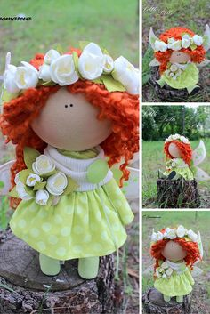 Angel doll, doll handmade, art doll, cloth doll, textile doll, tilda doll