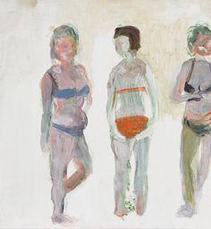 Maiju Salmenkivi: Ihanat naiset rannalla, 1999, akryyli levylle, 60x55 cm - Bukowskis F178