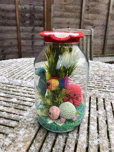 Fish bowl in a jar