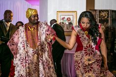 Beautiful Couple. Luxury {Nigerian} Wedding in {Philadelphia} with a Hot Pink Color Scheme: Lyndah + Chris - Munaluchi Bridal Magazine