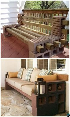 DIY Concrete Cinder Block Bench Seating-10 DIY Concrete Block Furniture Projects