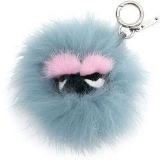 Fendi Mini Eyelash Monster Fur Charm for Handbag ($645) ❤ liked on Polyvore featuring bags, handbags, shoulder bags, accessories, fendi, jewelry, blue shoulder bag, fox purse, mini shoulder bag and shoulder handbags