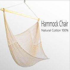 Hammock Chair Natural Cotton 100% ivory white handmade