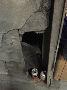 Hole in the wall at the old pickle factory