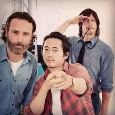 Norman Reedus + Andrew Lincoln + Steven Yeun #TheWalkingDead #TWD #TWDFamily