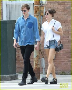Bill Skarsgard Holds Hands with His Girlfriend in New Orleans