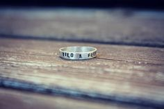 Wild & Free Sterling Silver Sing Text Ring by NORDICJEWELRY