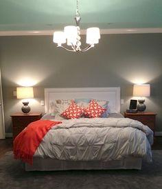 Light teal grey bedroom - photo#13
