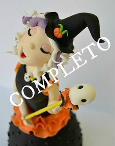 fondant halloween | curso-modelado-brujita-fondant-teresa-muntane-halloween