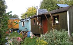 A self-sufficient self-improved retro caravan settlement at Wagendorf on the outskirts of Berlin.
