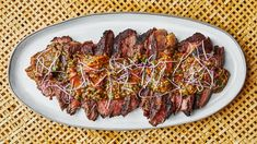 Tri-Tip Steak With Tiger Bite Sauce - Tiger bite sauce lives up to its name: it's spicy and deep in umami. Flap Steak, Homemade Corn Tortillas, Homemade Breads, Tri Tip, Grilled Tomatoes, Oyster Sauce, Sirloin Steaks, Sauce Recipes, Steak Recipes