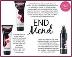 End mend will help your fair look smooth, shiny & healthy while repairing split ends! #hair #splitends #perfectlyposh