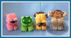 10 Animales De Toalla Facial Recuerdos Bautizo Baby Shower ...